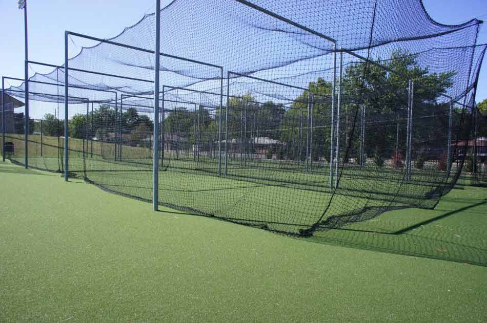 Artificial sports turf at Kansas State University batting cage