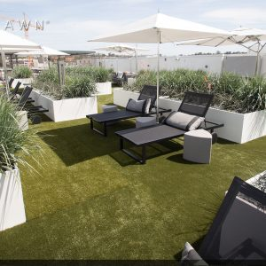Artificial grass rooftop installation in Kansas City